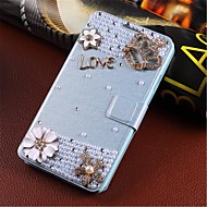 For Samsung Galaxy Case Card Holder / Rhinestone / with Stand / Flip Case Full Body Case 3D Cartoon PU Leather Samsung S5