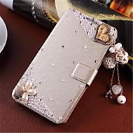 のために iPhone 7ケース / iPhone 7 Plusケース / iPhone 6ケース / iPhone 6 Plusケース カードホルダー / スタンド付き / フリップ ケース フルボディー ケース キラキラ ハード PUレザー のために Apple