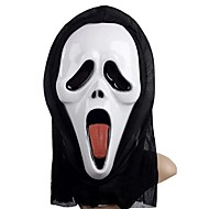 Sticking Tongue Ghost Mask with Head Cover Scream Practical Joke Scary Cosplay Gadgets for Halloween Costume Party
