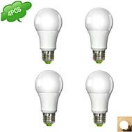 Ampoules Globe Blanc Chaud/Blanc Froid DUXLITE 4 pièces A E26/E27 9 W 1 COB 850 LM AC 100-240 V