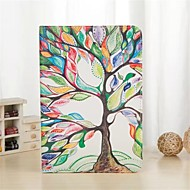 Colorful Tree Pattern PU Leather Full Body Case with Stand and Card Slot for iPad Air 2