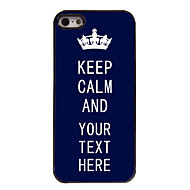 Personalized Case Blue Keep Calm Design Metal Case for iPhone 5/5S