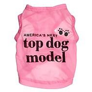 Lovely Super Model Pattern Terylene Vest for Dogs (Assorted Sizes)