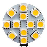 1.5W G4 LED-kohdevalaisimet 12 SMD 5050 70 lm Lämmin valkoinen / Kylmä valkoinen AC 12 V 20 kpl