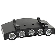 Unitop 900111 5 LED Fishing Camping Head Light Head Lamp LED Cap Light Camp Light (500LM,2x 2032)