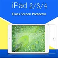 0.4mm 9h protección de daños dureza templado film protector de pantalla de cristal para ipad 2/3/4