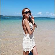 kvinners mote sexy hvit hul hekle badetøy badedrakt beachdress bikini cover-up