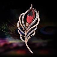 muodikas tyylikäs sulka kristalli rintakoru