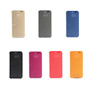 Original Smart Auto-Sleep HTC Dot View Flip Leather Case Cover for HTC One M8 with Dust plug(Assorted Colors)