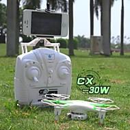 cheerson cx-30w zangão helicóptero com câmera HD e Wi-Fi fpv em tempo real zangão transmissão levou luz