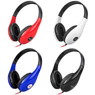 Stereo Music 3.5mm On-Ear Headphone DM-4700 (sort, rød, hvid, blå)