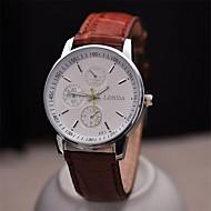 clássico pulseira de couro de negócios dos homens relógio de alta qualidade movimento de quartzo japonês relógios (cores sortidas)