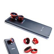 3-En-Uno magnética 180 º Lente Ojo de Pez y Gran Angular 0.67X con Macro para teléfono móvil Samsung