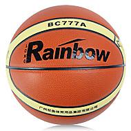 microfibra arco-íris de basquete jogo de couro com cilindros de gás / net / agulha