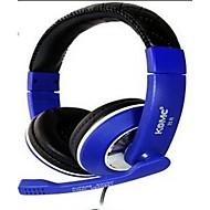 komc B8 on-ear usb kuulokkeet ja mikrofoni pelaamista