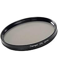 Tianya 62mm cpl cirkulär polarisator filter för Pentax 18-135 18-250 tamron 18-200mm lins