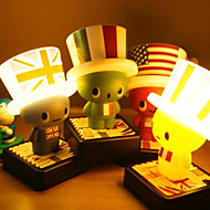 30W LED Cute Mr. Hat USB Dual Battery LED Small Table Lamp220C (Assorted Colors)