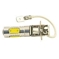 Carking™ Auto H3 11W 5SMD LED Lens Headlamp Foglight Bulb-White(12V 1PC)