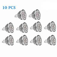Lâmpada de Foco GU5.3 4.5 W 270 LM 3500/6000 K Branco Quente/Branco Frio 4 LED de Alta Potência 10 pçs DC 12 V