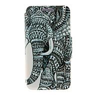 Varten Huawei kotelo / P8 / P8 Lite Flip Etui Kokonaan peittävä Etui Elefantti Kova Tekonahka HuaweiHuawei P8 / Huawei P8 Lite / Huawei