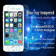 huyshe protetor de tela de vidro temperado anti resistente a riscos espessura luz azul 0,33 milímetros para iphone5 / 5c / 5s