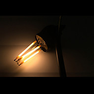 5 pcs ONDENN E12 4W 4 COB 400 lm Warm White CA35 edison Vintage LED Filament Bulbs AC 110-130 V