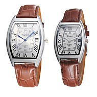 Couple's Hot Selling Bracelet Watch Quartz Analog Bohemian Roman Numeral PU Leather 2pcs/pair