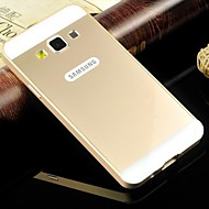 Metal Frame Acrylic Mirror Backplane Metal Hard Case for Samsung Galaxy A3 (Assorted Colors)