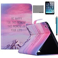 COCO FUN® Hill Sunset Pattern PU Leather Flip Stand Case with Screen Protector and Stylus for Apple iPad Air 5