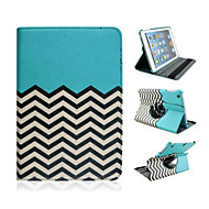 Fashion Wave Grain Rotary PU Full Body Case with Stand for iPad mini 1/2/3 (Assorted Colors)