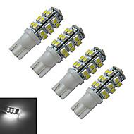 T10 Lampe de Décoration 25 SMD 3528 100lm lm Blanc Froid DC 12 V 4 pièces