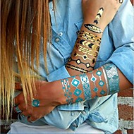 1PC Chic Gold Necklace Bracelet Tattoos Temporary Tattoos Sticker Cuticle Tattoos Symbol Flash Tattoos Party Tattoos
