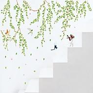 wall stickers Vægoverføringsbilleder, style grønne blade pvc wall stickers