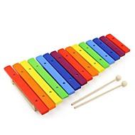 benho farve 15 skalaer xylofon undervisning musik barn legetøj instrument