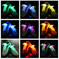 3 Mode Switch Fast-flash Slow-flash Long-light LED Shoelace for Sports(Assorted Color,1 Pair)