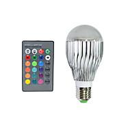 1 pcs E27 15W 3X 72LM RGB Remote-Controlled Globe Bulbs AC 220-240V