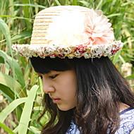 Γυναικείο Χαριτωμένο/Καθημερινά Καλοκαίρι Δαντέλα/Άχυρο Αχυρένιο Καπέλο