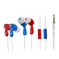 WD003 - Ecouteurs - Avec fil - Ecouteurs Boutons (Semi Intra-Auriculaires) - avec Avec Microphone -Lecteur multimédia/Tablette/Téléphone