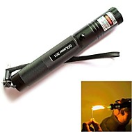 LS316 301 Lockable Adjustable Burning Green Laser Pointer Flashlight(5mw, 532nm,b1x18650, Black)