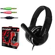 OVLENG - OV-X7 - Hörlurar - Trådbunden - Hörlurar (pannband) - med mikrofon/Volymkontroll - till Mediaspelare/Tablet/Dator