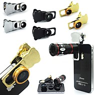 4in1 Universal Compatible Fish-Eye Lens/Long Focal Lens/Wide-Angle Lens/Other