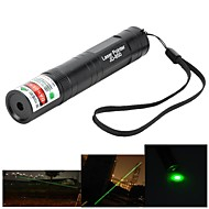 Marsing High Power Muliti-function 850 5mW 532nm Green Laser Pen Flashlight - Black