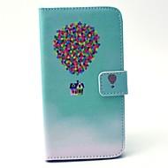 Na Samsung Galaxy Etui Portfel / Etui na karty / Z podpórką Kılıf Futerał Kılıf Balon Twarde Skóra PU SamsungS6 edge / S6 / S5 Mini / S5