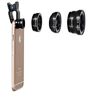 universele clip-on 3 in 1 fish eye lens + groothoek + micro lens kit voor iPhone 4 4s 4g 5 5g 5s samsung galaxy s3