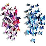 12 kpl 3d simulointi perhonen pvc seinä tarroja seinälle Siirtokuvat (eri värejä)