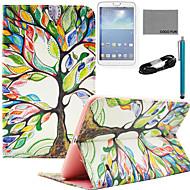 Για Θήκη καρτών / Πορτοφόλι / με βάση στήριξης / Ανοιγόμενη / Με σχέδια tok Πλήρης κάλυψη tok Δέντρο Σκληρή Συνθετικό δέρμα SamsungTab S