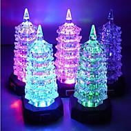 Multicolor Acrylic  Tower Pattern Night Light