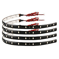 [10PCS/Lot]5W 30CM 15xSMD3528 Red/Green LED Light Strip DIY LED Auto Lamp for Car Use(DC12V)