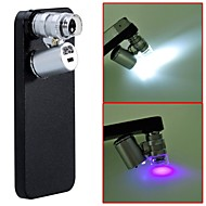 Autre - 10X et Supérieur - Pomme iPhone 5/iPhone 5S - Argent ( Objectifs avec Etui/Objectifs avec Lampe LED/Lampe UV )