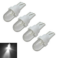 JIAWEN® 4pcs T10 0.5W 30-50LM 6000-6500K Cool White Car Signal Lamps LED Car Light (DC 12V)